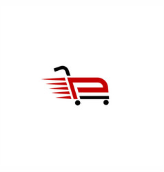 P cart logo vector
