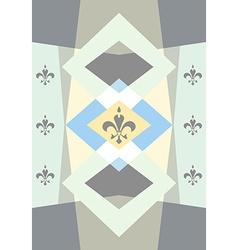 Pastel colored background with fleur de lis vector image