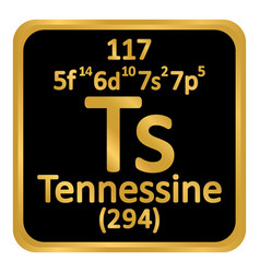 Periodic table element tennessine icon vector