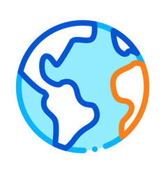 planet earth globe icon outline vector image