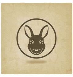 rabbit head symbol vector image