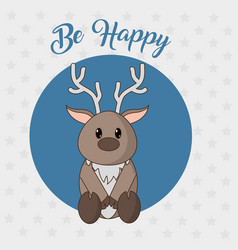 Reindeer cartoon design vector