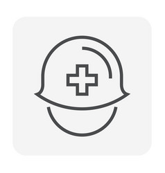 safety helmet icon vector image