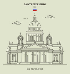 saint isaacs cathedral in saint petersburg vector image