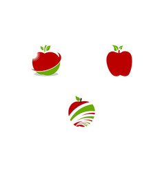 set of apple design icon logo template vector image