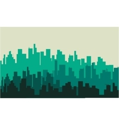 Silhouette of big city vector image