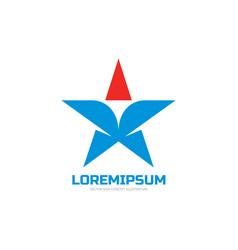 Star - logo concept design vector