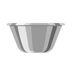 steel cooking bowl vector image
