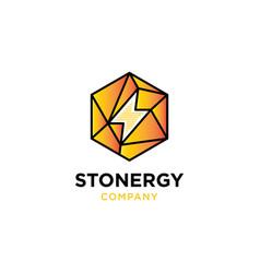 stone energy logo design templ vector image