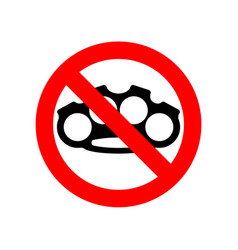 stop brass knuckle no weapon robber red vector image