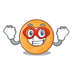Super hero onion ring character cartoon vector