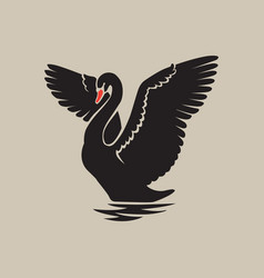 Swan logo sign emblem-03 vector