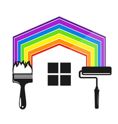 symbol for painting a house tool vector image
