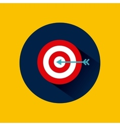target icon image vector image