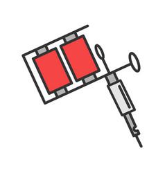 Tattoo machine color icon vector