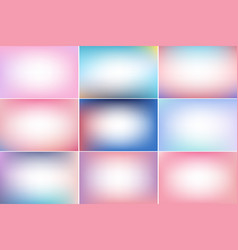 Tranquil sky trendy color banners gradient vector