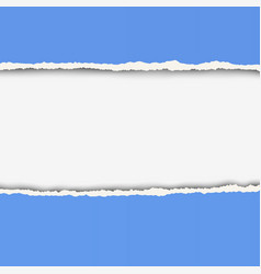 two pieces of torn blue color paper vector image