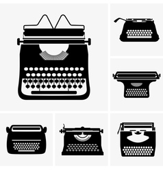 Typewriter vector image