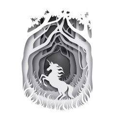 Unicorn fairytale character vector
