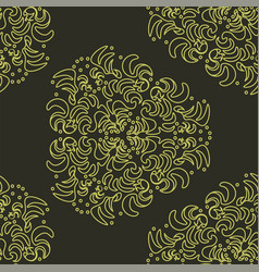 wallpaper in the style of baroque damask a vector image
