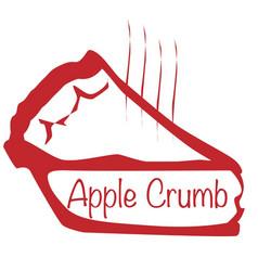 Warm apple crumb pie vector