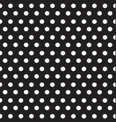 white dots on black background seamless pattern vector image