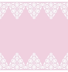 White lace border vector image