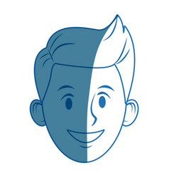 Young guy people face character image vector