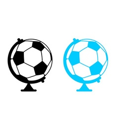 football ball Globe World game Sports accessory as vector image