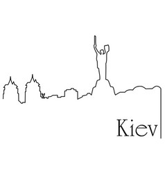 kiev city one line drawing background vector image vector image