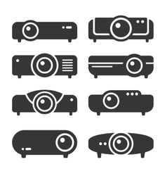 Projector Icon Set on White Background vector image