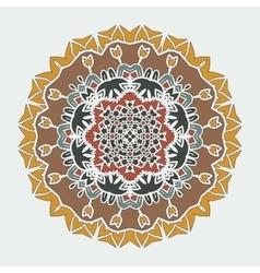 Stylized Mandala Art ornamental round lace vector image