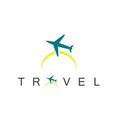 travel plane logo vector image