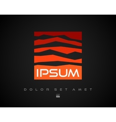 Abstract Logo Mountain Design Template vector image