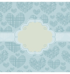 Card and seamless pattern with silhouettes of vector image