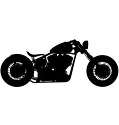 chopper motorbike silhouette vector image