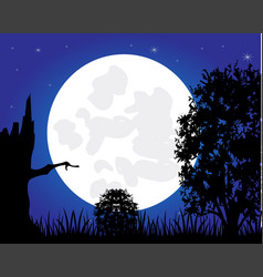night and tree vector image
