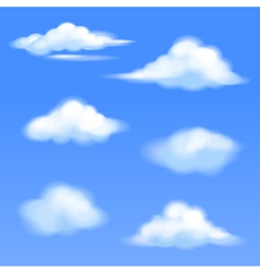 set of isolated clouds vector image