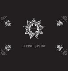 brochure in oriental style vector image