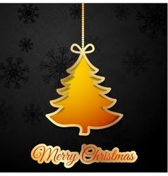 Orange Christmas tree vector image vector image