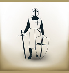 simple knight vector image vector image