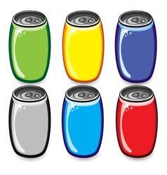soda cans vector image vector image
