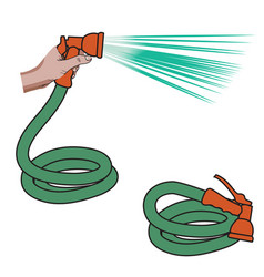 Water hose vector