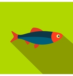 Fresh raw fish flat icon vector image