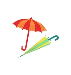 Two umbrellas as autumn attribute vector