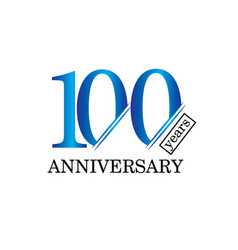 100 year anniversary template design vector