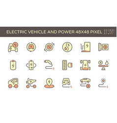 20200105 electric car icon red vector