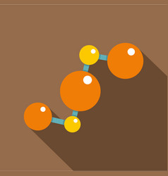 abstract orange and yellow molecules icon vector image