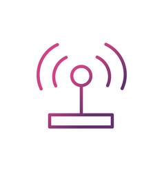 antenna signal network social media icon line vector image