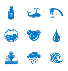 aqueduct icons set simple style vector image